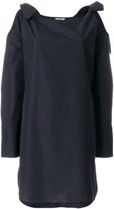 Frame bow cutout shoulder shift dress