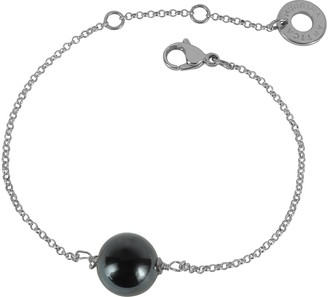 Antica Murrina Veneziana Perleadi Black Murano Glass Bead Chain Bracelet