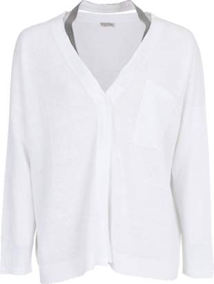 Brunello Cucinelli Monili Neck Strap Cardigan