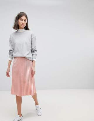Moss Copenhagen Midi Skirt With Pleats