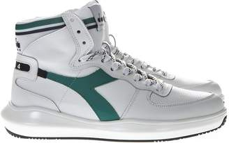 Diadora Heritage Mi Basket H Mds In White Leather Sneakers