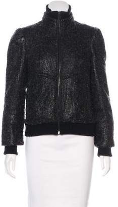 Alice + Olivia Faux Fur-Lined Casual Jacket