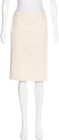 Bottega VenetaBottega Veneta Fitted Knee-Length Skirt