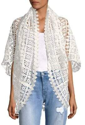 Laundry by Shelli Segal Geometric Lace Cardigan