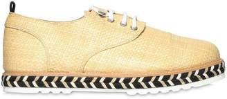 Lightweight Raffia Lace-Up Shoes