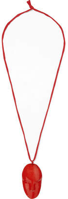 Simon Miller Face Enamel And Metal Necklace - Red
