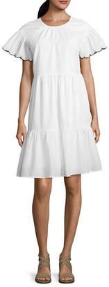 A.N.A Scallop Swing Dress - Tall