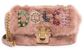 Dolce & Gabbana Faux-Fur Logo Shoulder Bag