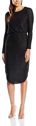 Almost Famous Women's Lurex Evening Long Sleeve Dress