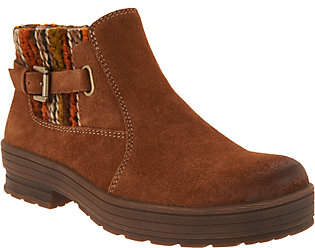 Earth Origins Water Repellent Suede Ankle Boots- Tate