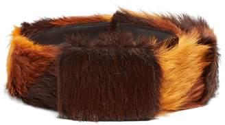 Prada Tri-colour calf-hair belt