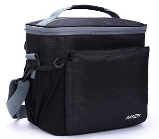 MIER Insulated Lunch Bag Men and Women Soft Cooler Lunch Box Tote with Shoulder Strap
