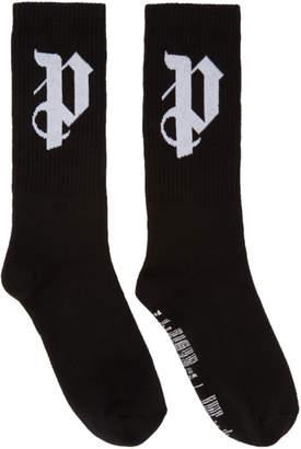 Palm Angels SSENSE Exclusive Black PA Monogram Socks
