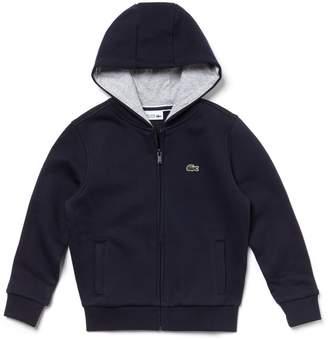 Lacoste Kids' SPORT Tennis Zippered Fleece Sweatshirt