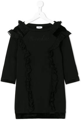MonnaLisa ruffle trimmed sweatshirt dress