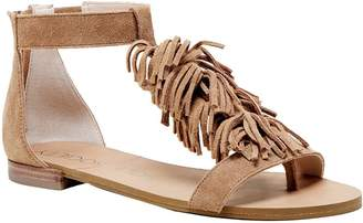 Sole Society Fringe Flat Sandals - Koa
