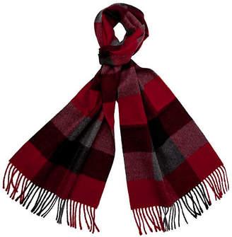 A & R Cashmere A&R Cashmere Men's Alpaca Wool Check Scarf - Crimson - a&R Cashmere