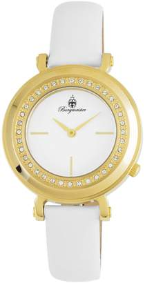 Burgmeister Women's ' Quartz Stainless Steel and Leather Casual Watch, Color: (Model: BM809-286)