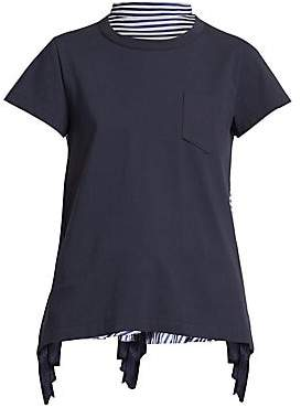 Sacai Women's Pleated Lace Back Tee
