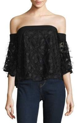 Milly Textured Off-The-Shoulder Top