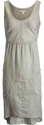 True Grit Dylan by Women's Luxe Linen V-Neck Sleeveless High Low Dress With Pockets