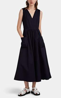 Co Women's Cotton Poplin Maxi Dres - Navy