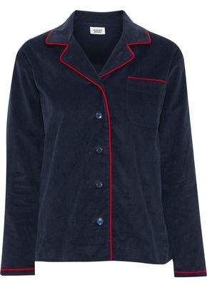 Sleepy Jones Cotton-Corduroy Pajama Shirt