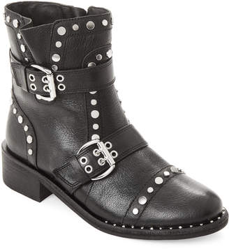 470cf7059bd226 Sam Edelman Black Drea Studded Leather Ankle Boots
