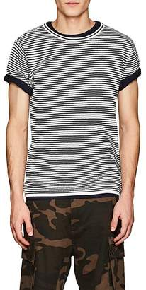 Saturdays NYC Men's Brandon Striped Waffle-Knit Cotton T-Shirt