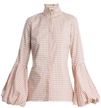 Caroline Constas Jaqueline gingham-checked cotton shirt