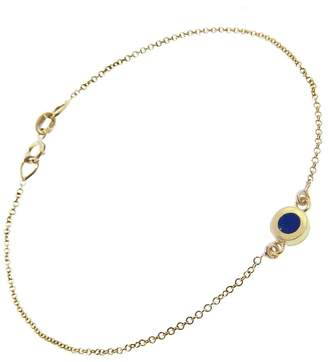 Jennifer Meyer Lapis Inlay Circle Bracelet
