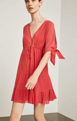 BCBGMAXAZRIA Drawstring A-Line Dress