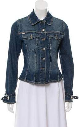 Burberry Buckle-Accented Denim Jacket
