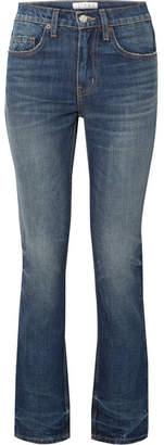 TRE by Natalie Ratabesi - Binx Distressed Mid-rise Straight-leg Jeans - Mid denim