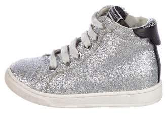 DSQUARED2 Girls' Glitter High-Top Sneakers