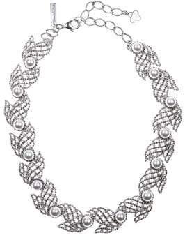 Oscar de la Renta Faux Pearl and Swarovski Crystal Collar Necklace