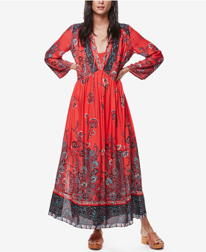 Free People If You Only Knew Printed Maxi Dress 3
