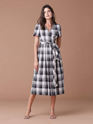 Diane von Furstenberg Short Sleeve Cotton Wrap Dress