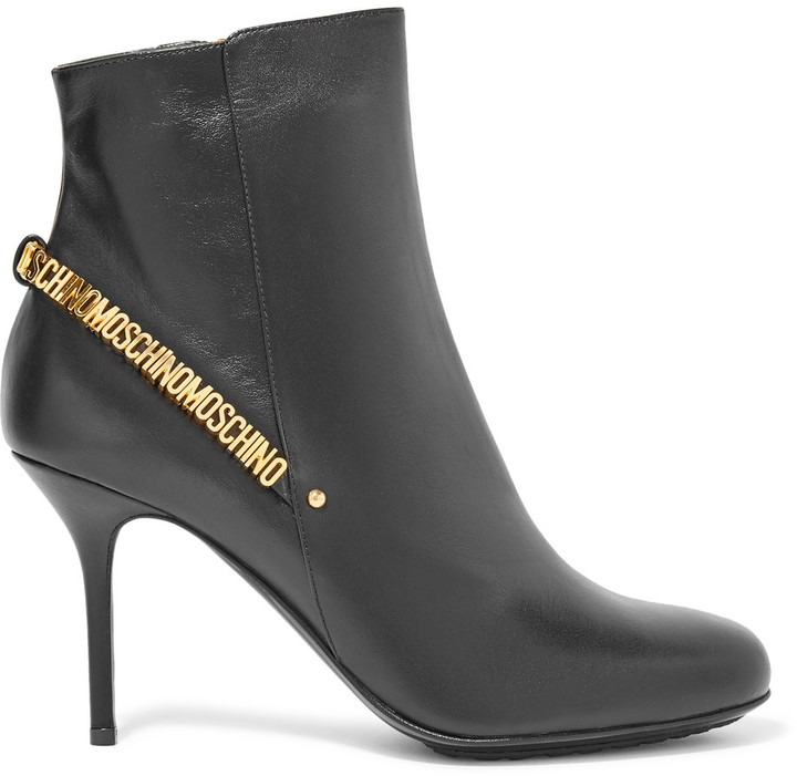 Moschino Moschino Embellished leather ankle boots