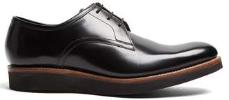 Grenson Lennie Leather Derby Shoes - Mens - Black
