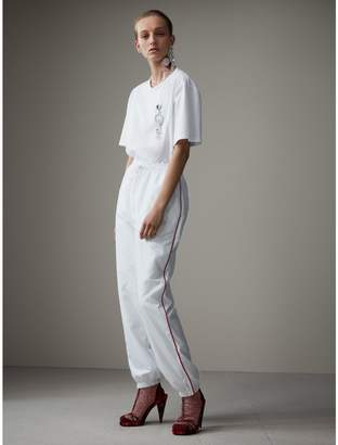 Burberry Contrast Piping Poplin Track Pants