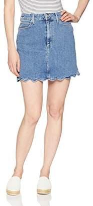 Joe's Jeans Women's Bella High Rise Cut Off Jean Skirt