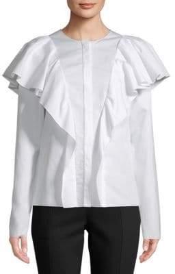 Lanvin Haut Ruffled Cotton Top