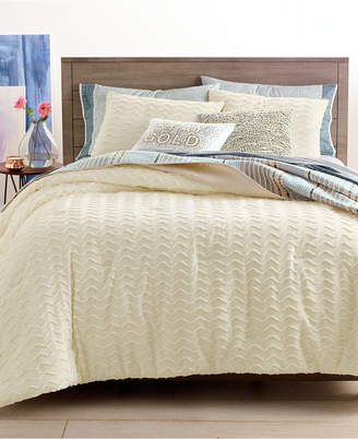 Martha Stewart Collection Closeout! Whim by Collection Chevron Chenille 3-Pc. Full/Queen Comforter Set
