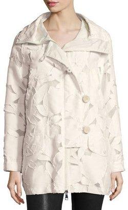 Moncler Pistache Floral Burnout Jacket, Cream $2,045 thestylecure.com