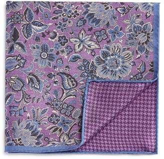 Bloomingdale's The Men's Store at Exploded Floral/Houndstooth Pocket Square