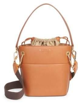Chloé Small Drawstring Leather Bucket Bag