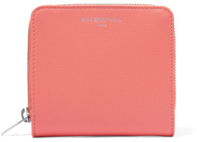 Balenciaga  Balenciaga - Textured-leather Wallet - Coral