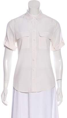Equipment Short Sleeve Button-Up Top