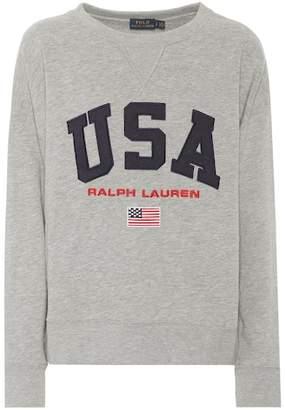 Polo Ralph Lauren Appliquéd jersey sweatshirt